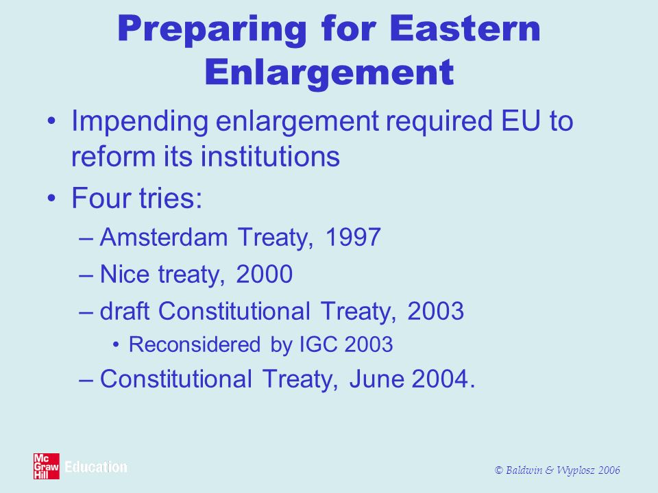 Preparing for Eastern Enlargement