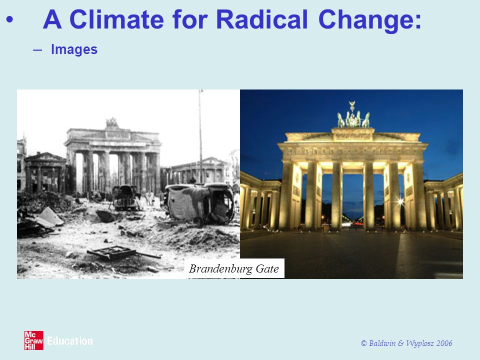 A Climate for Radical Change: