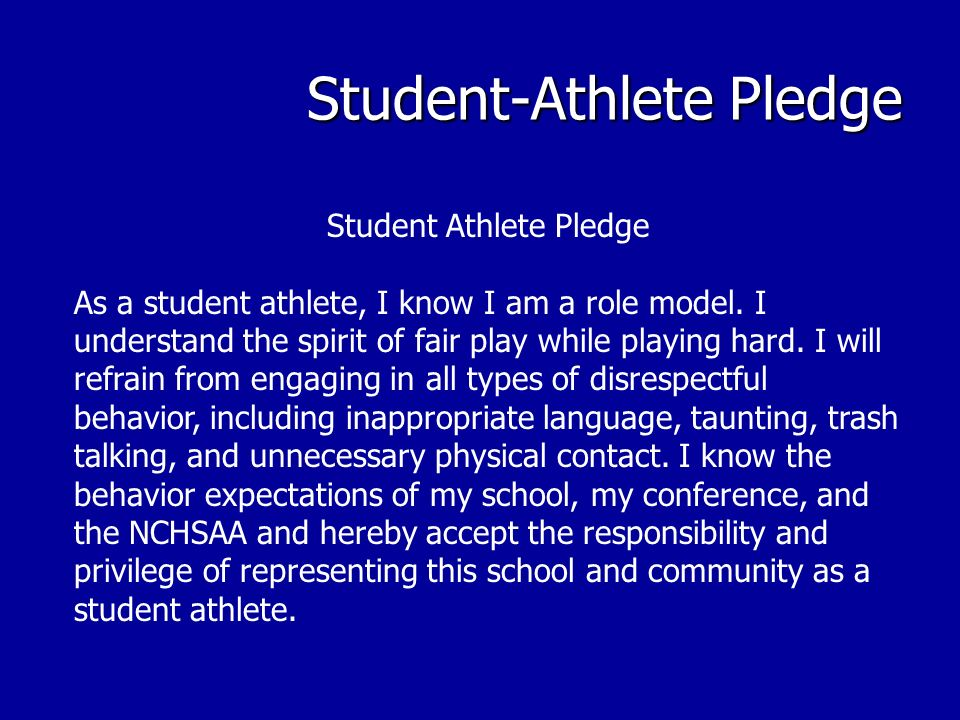 Student-Athlete Pledge