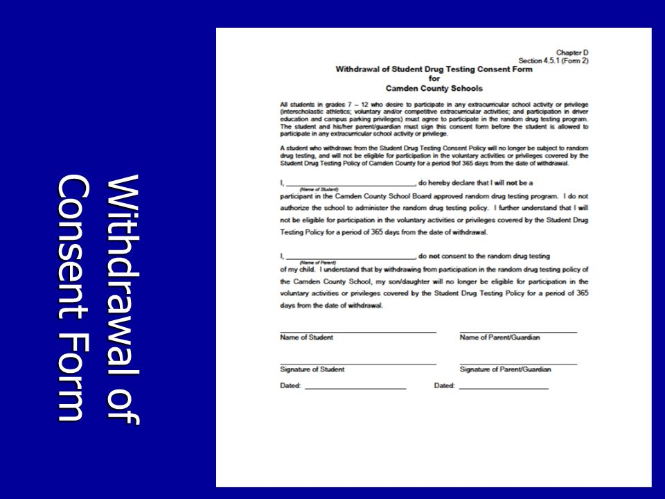 Withdrawal of Consent Form