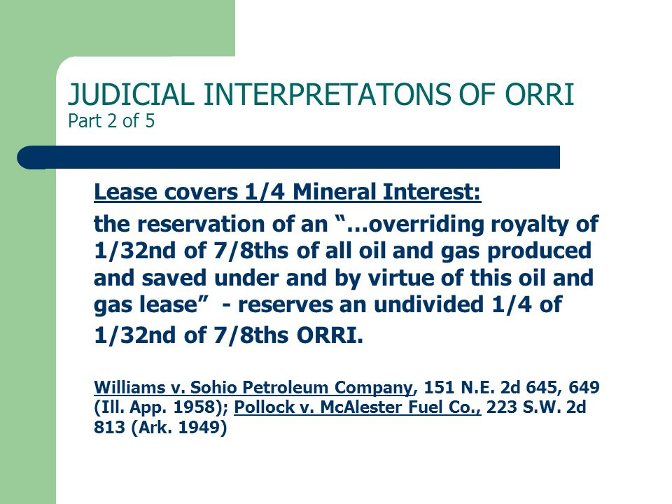 JUDICIAL INTERPRETATONS OF ORRI Part 2 of 5