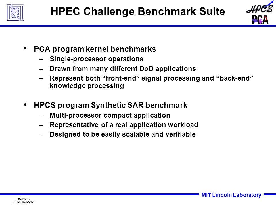 HPEC Challenge Benchmark Suite