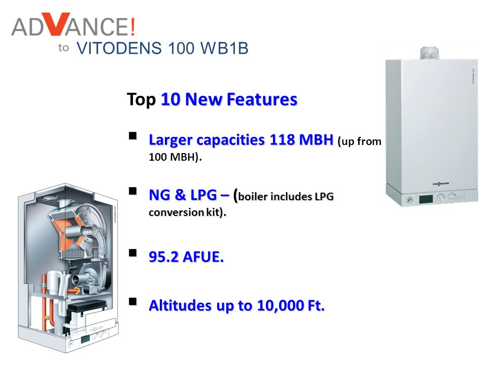 Top 10 New Features VITODENS 100 WB1B