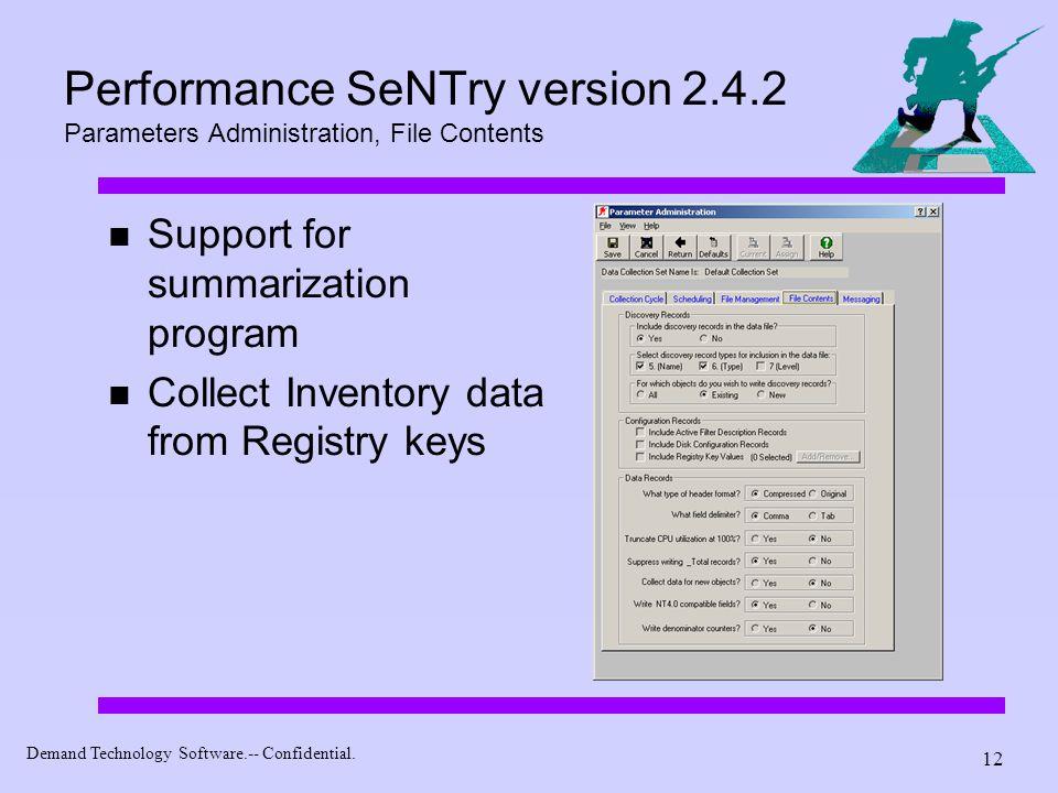 Performance SeNTry version 2. 4