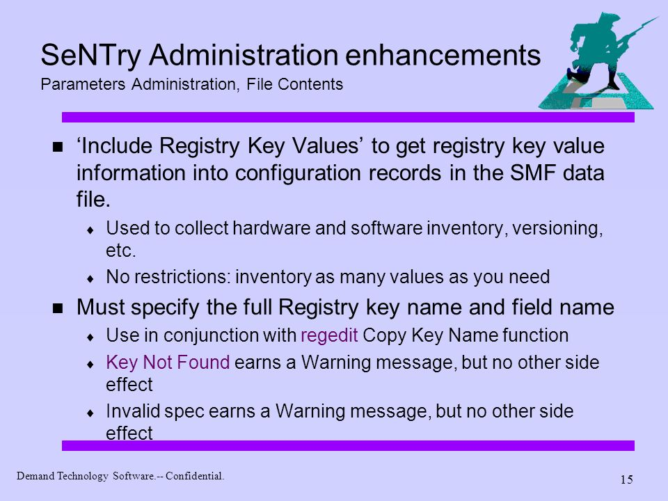 SeNTry Administration enhancements Parameters Administration, File Contents