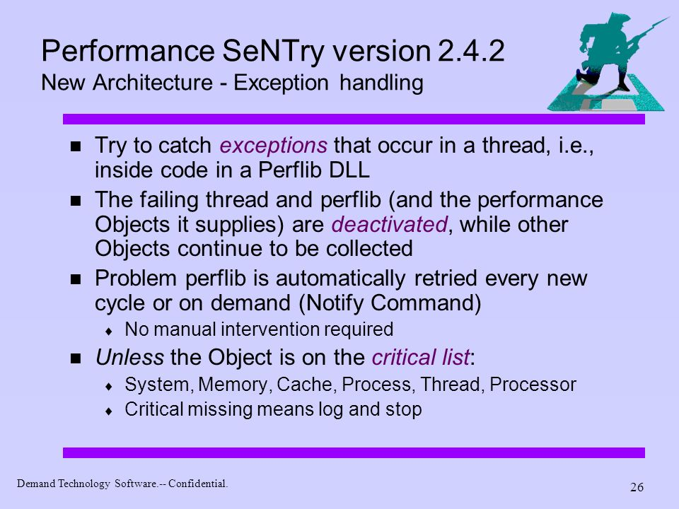 Performance SeNTry version 2.4.2 New Architecture - Exception handling
