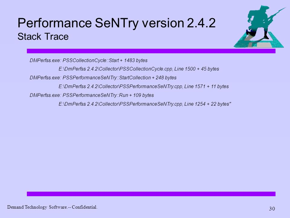 Performance SeNTry version 2.4.2 Stack Trace