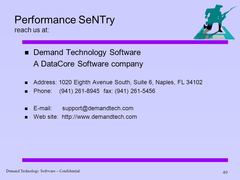 Performance SeNTry reach us at: