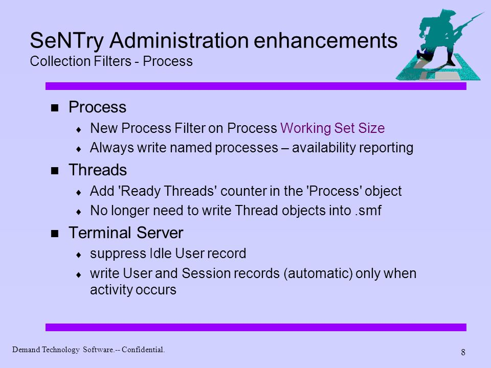 SeNTry Administration enhancements Collection Filters - Process