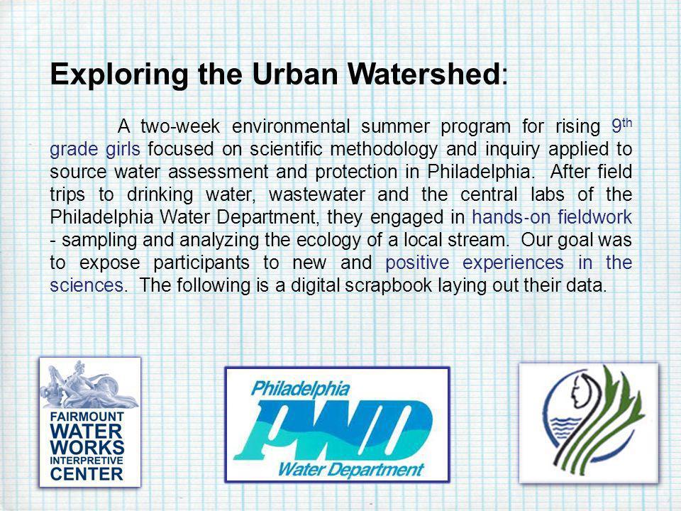Exploring the Urban Watershed: