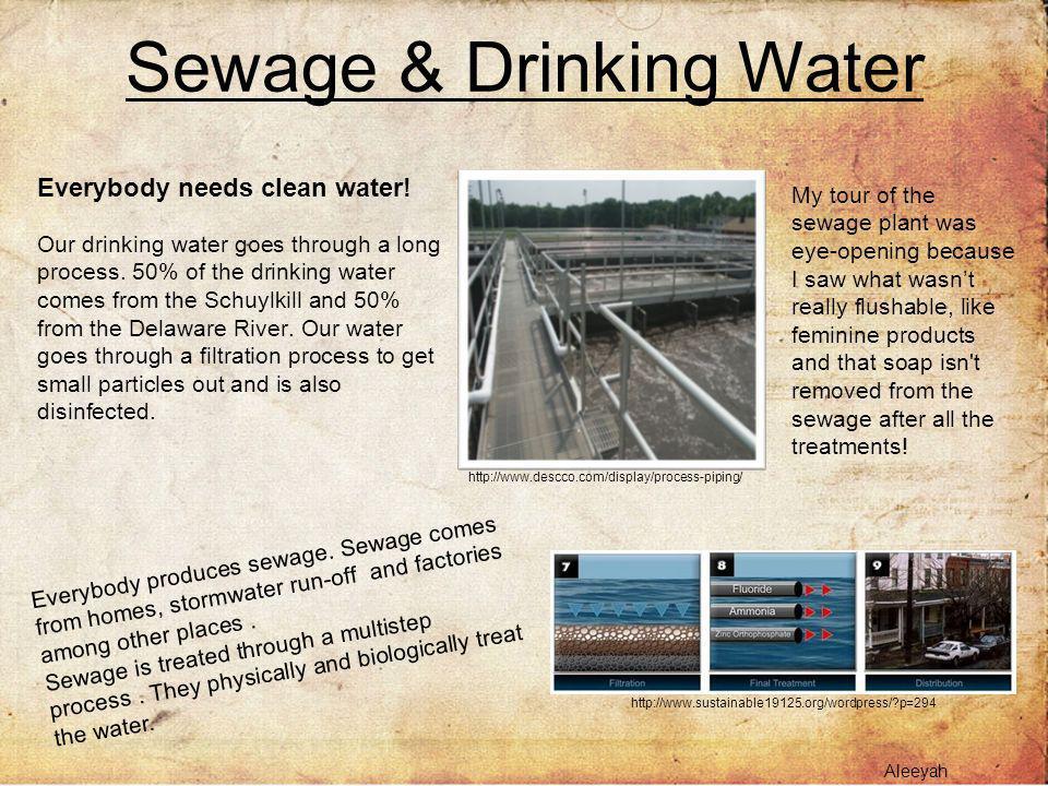 Sewage & Drinking Water