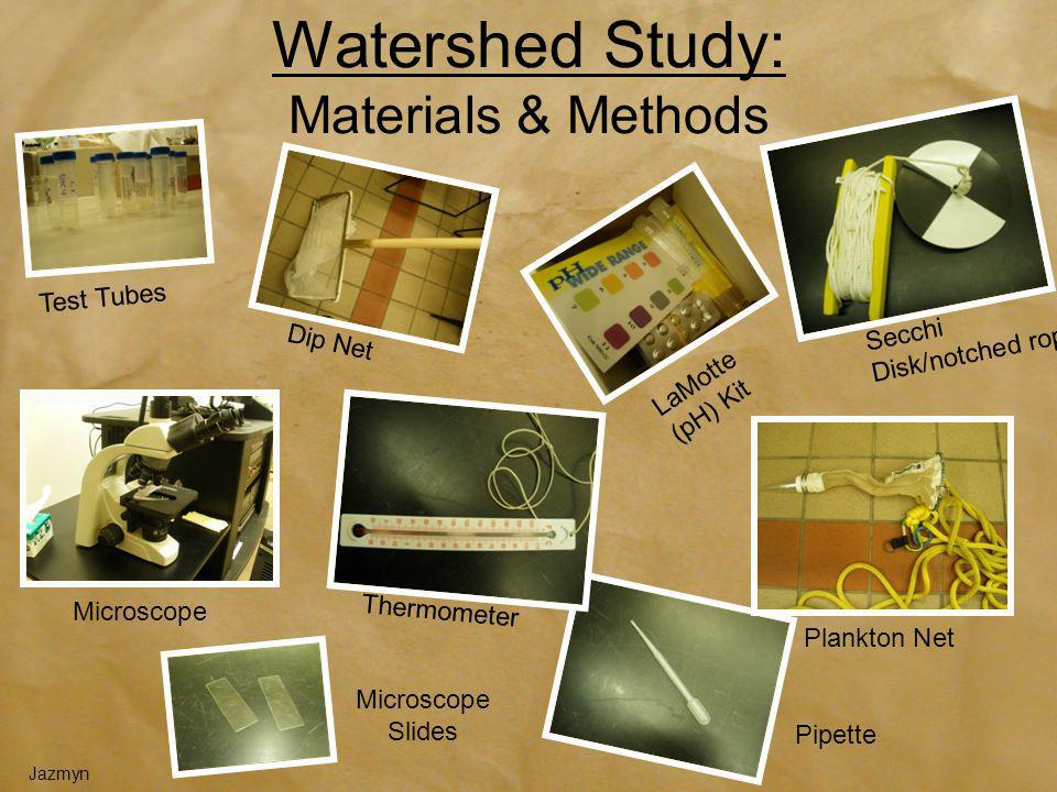 Watershed Study: Materials & Methods