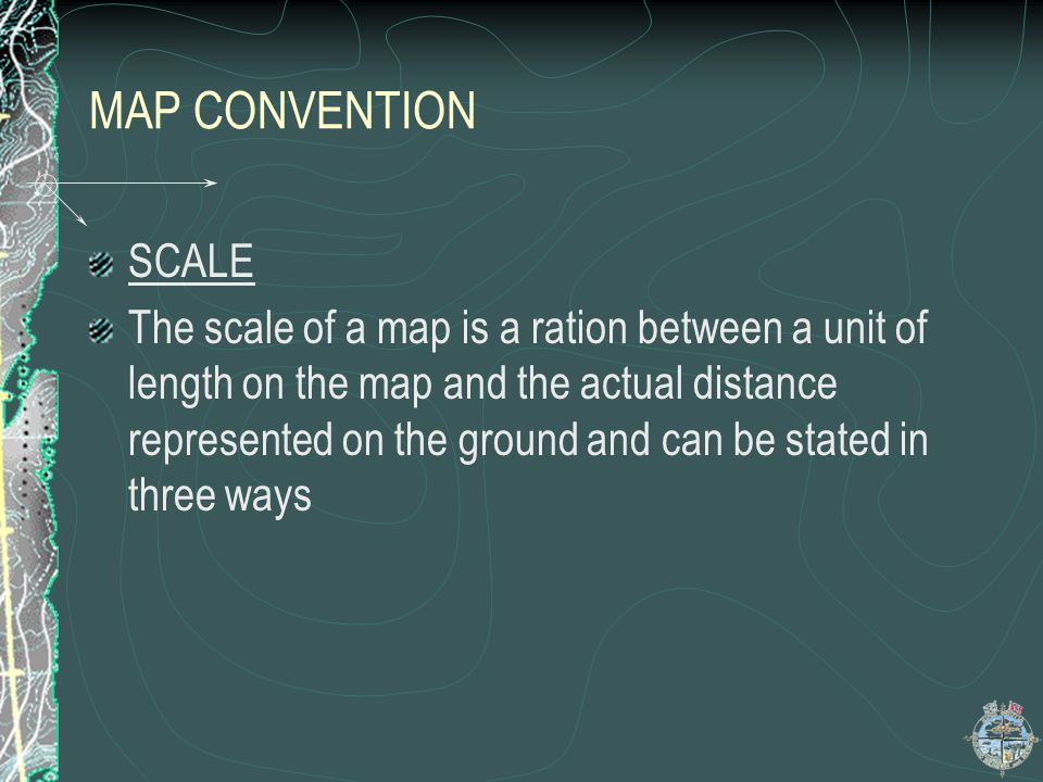 MAP CONVENTION SCALE.