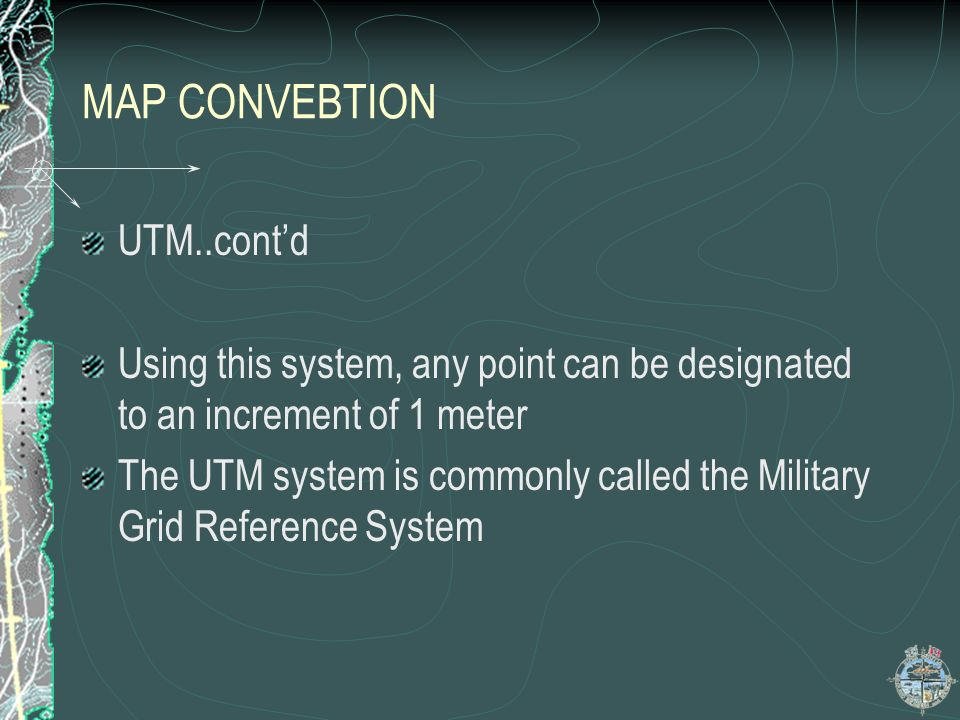 MAP CONVEBTION UTM..cont'd