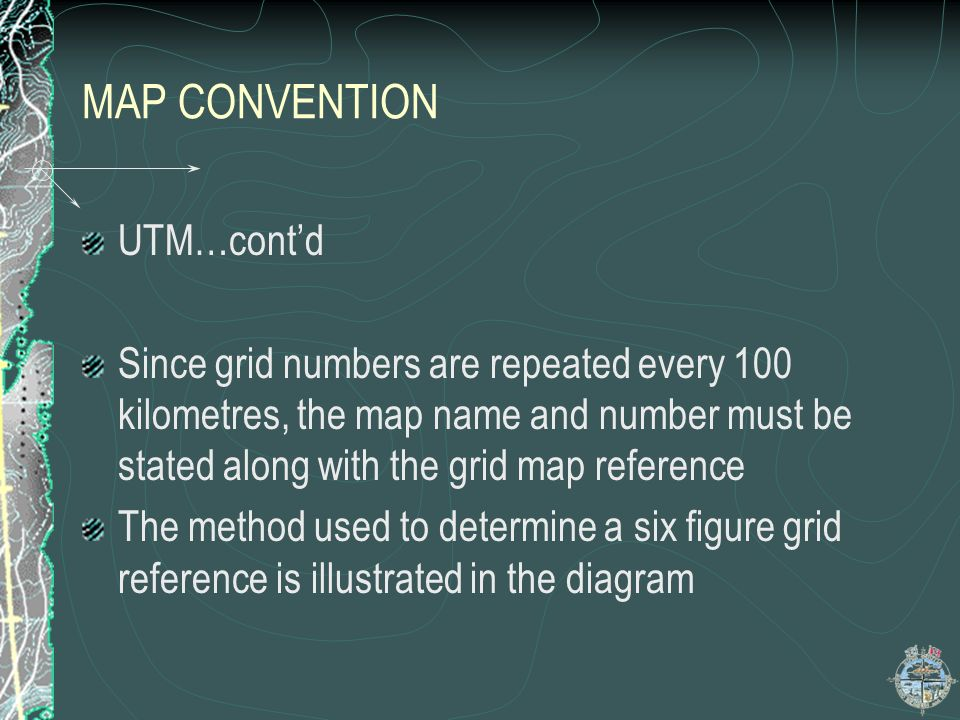 MAP CONVENTION UTM…cont'd