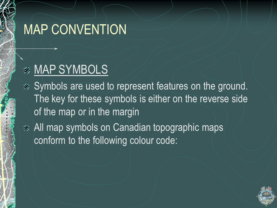 MAP CONVENTION MAP SYMBOLS
