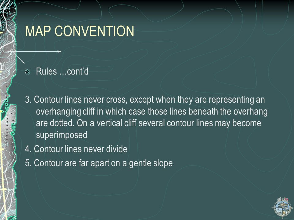 MAP CONVENTION Rules …cont'd