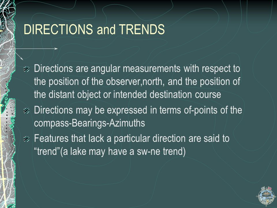 DIRECTIONS and TRENDS