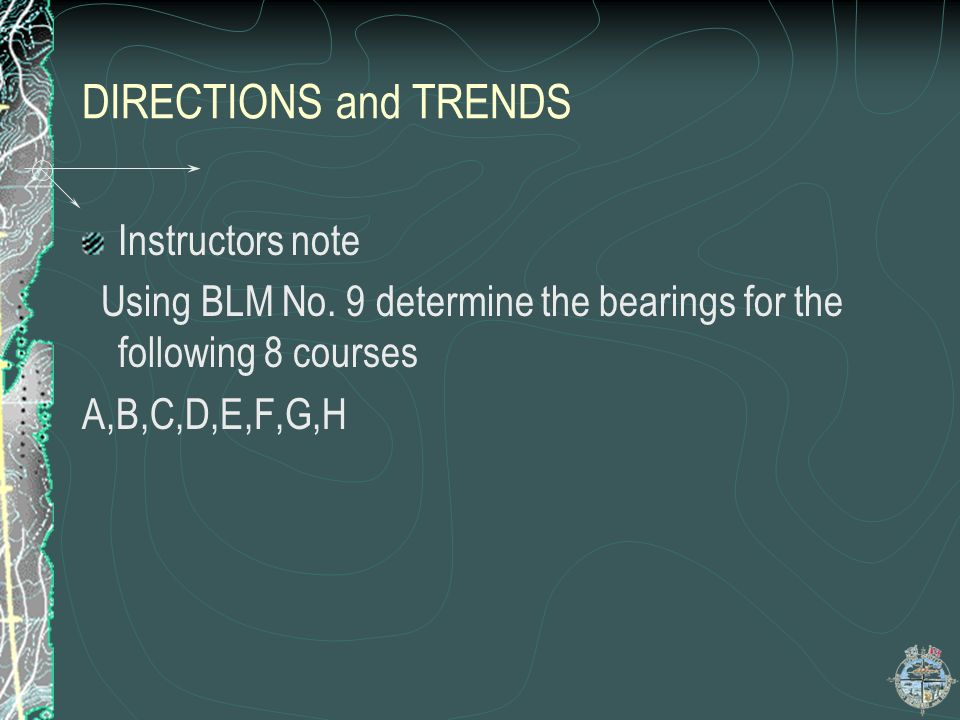 DIRECTIONS and TRENDS Instructors note