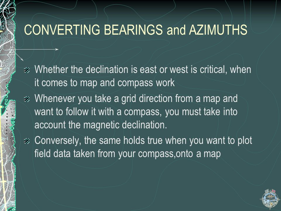 CONVERTING BEARINGS and AZIMUTHS