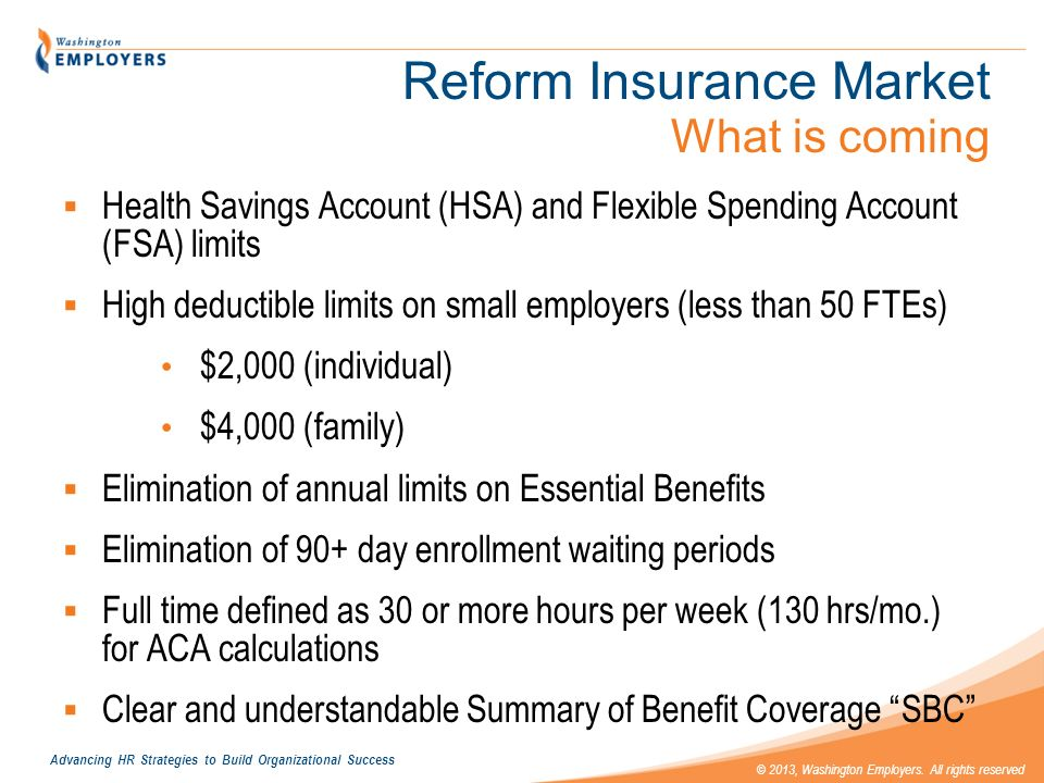 Reform Insurance Market What is coming