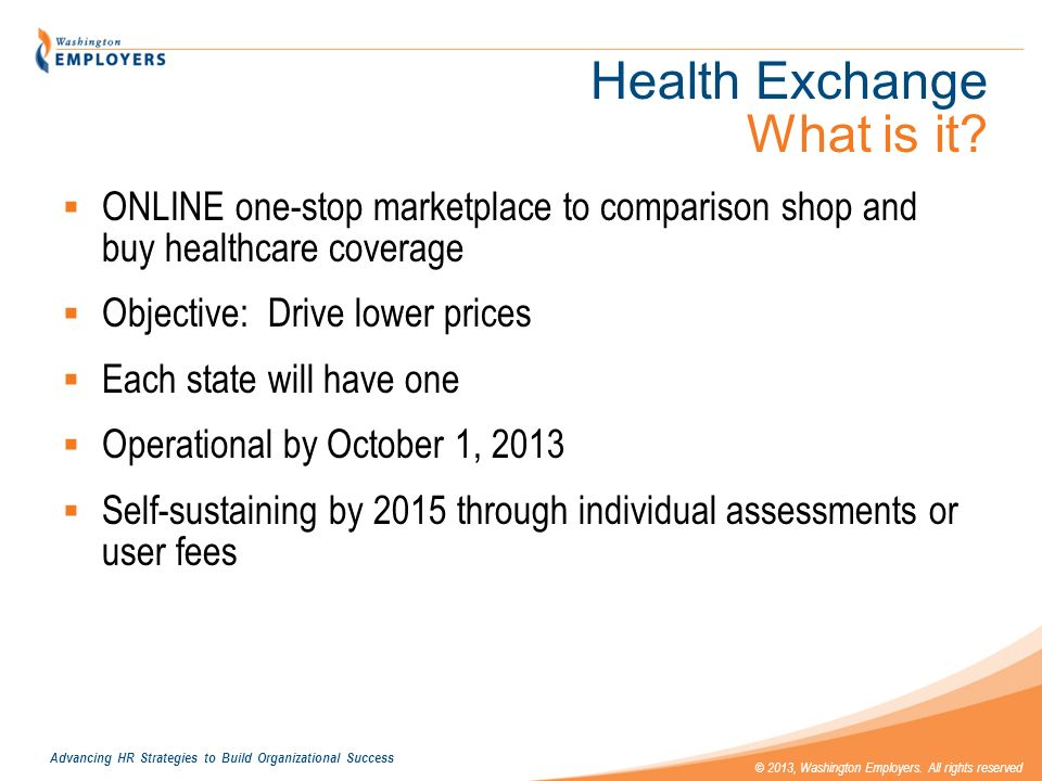 Health Exchange What is it