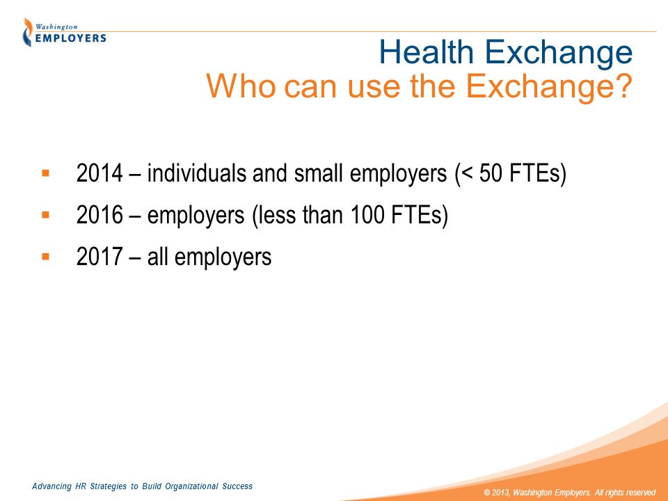 Health Exchange Who can use the Exchange