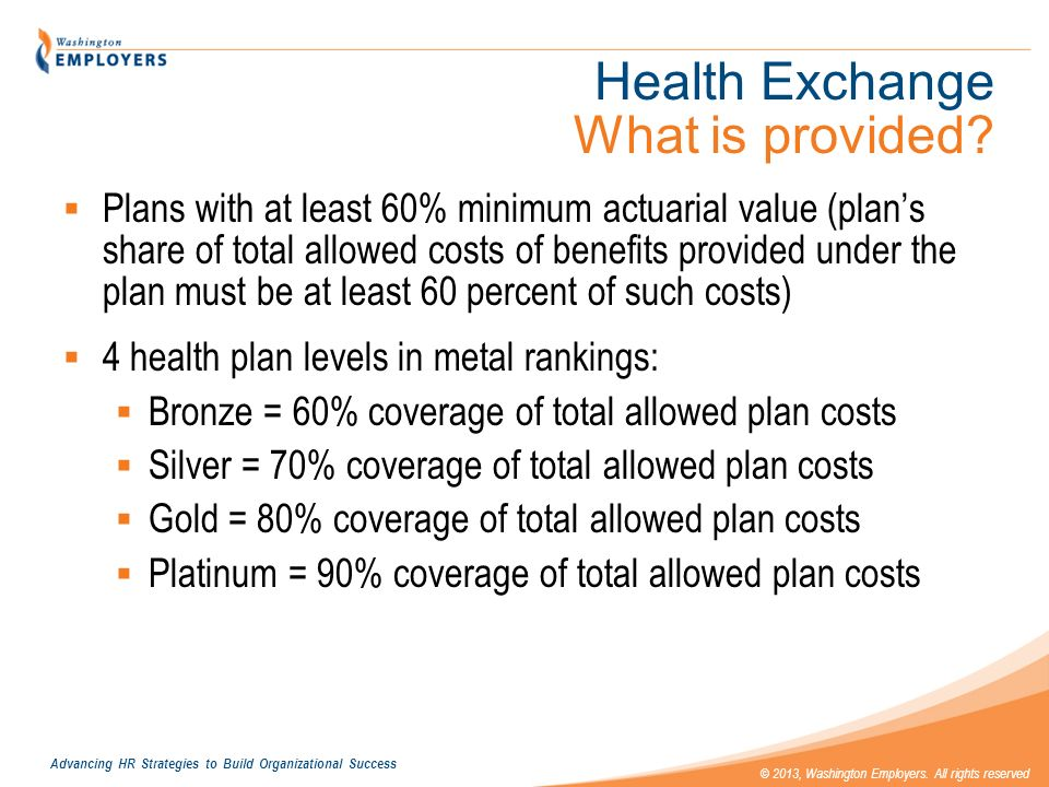 Health Exchange What is provided