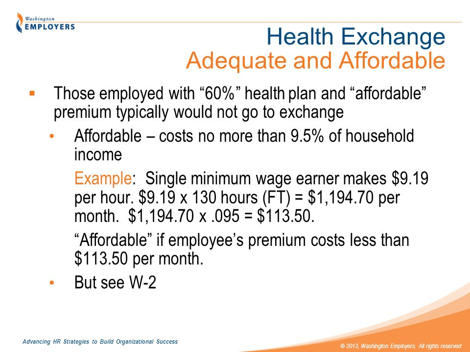 Health Exchange Adequate and Affordable