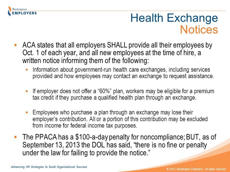 Health Exchange Notices