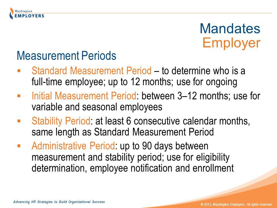 Mandates Employer Measurement Periods