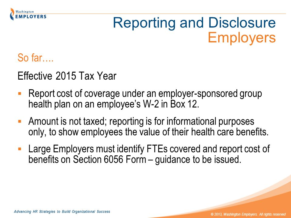 Reporting and Disclosure Employers