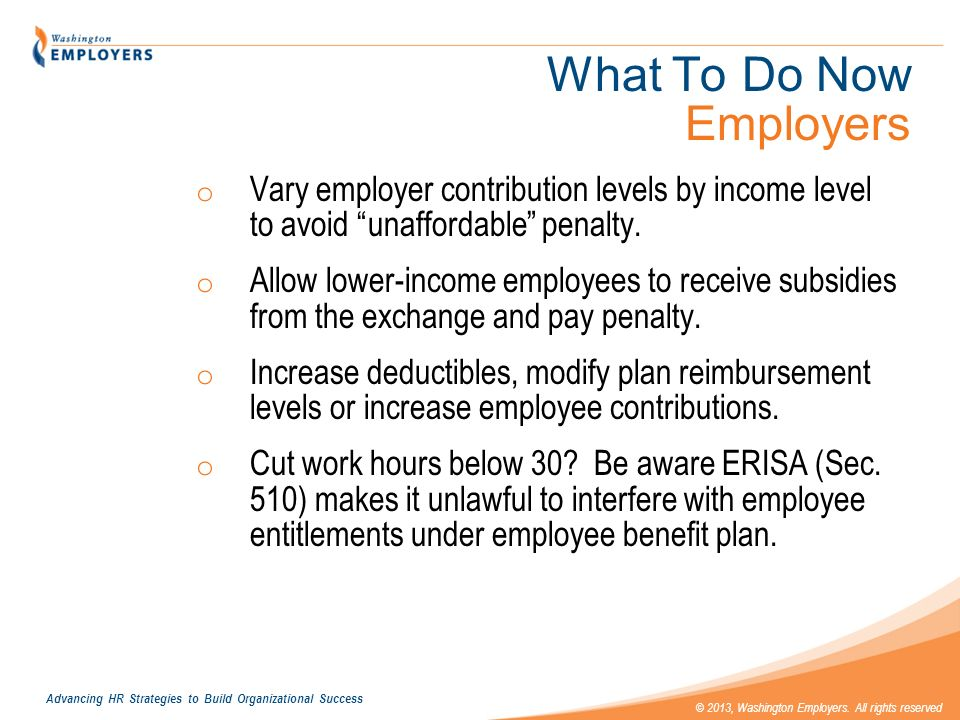 What To Do Now Employers