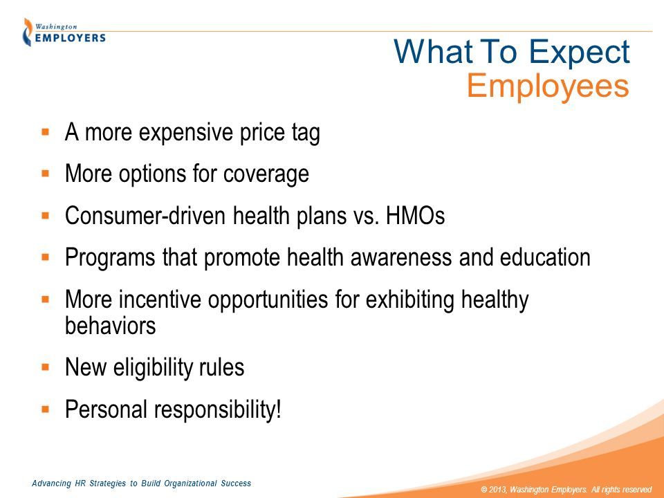 What To Expect Employees