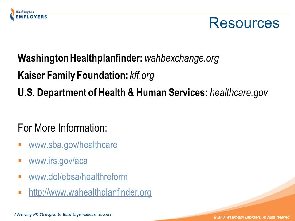 Resources For More Information: