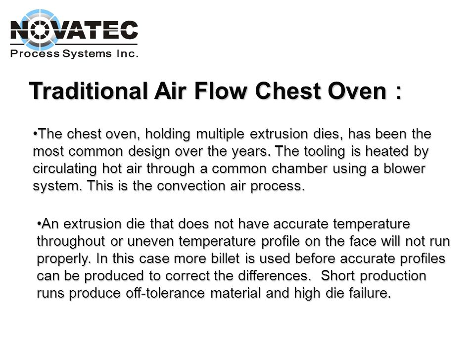 Traditional Air Flow Chest Oven: