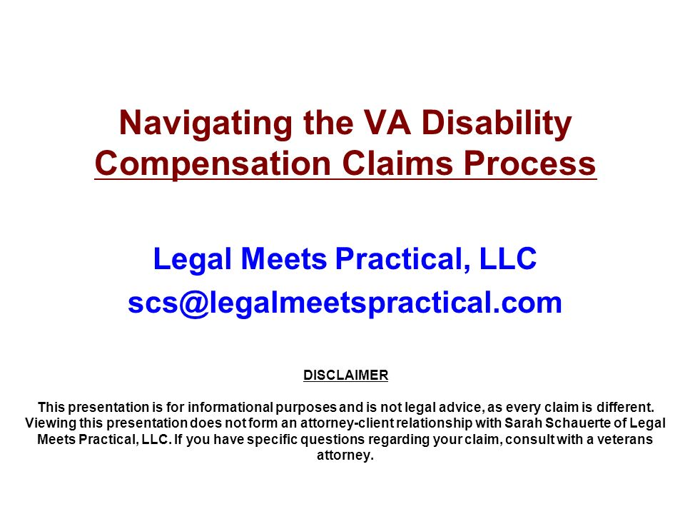 Navigating the VA Disability Compensation Claims Process