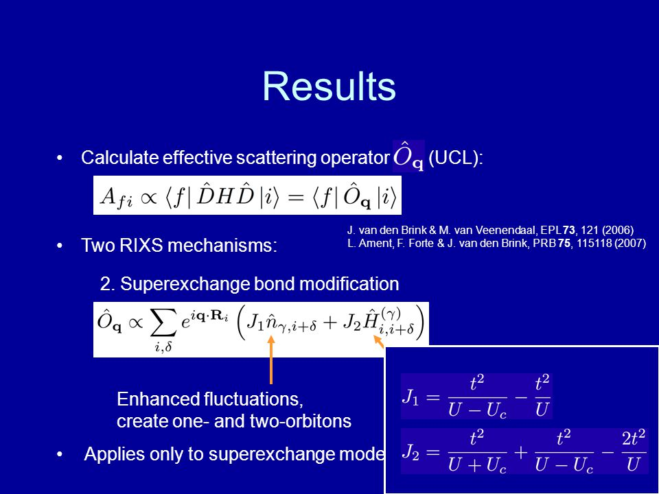 Results Calculate effective scattering operator (UCL):