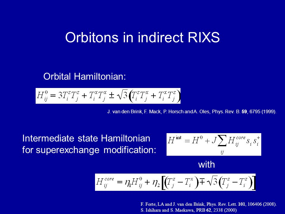 Orbitons in indirect RIXS