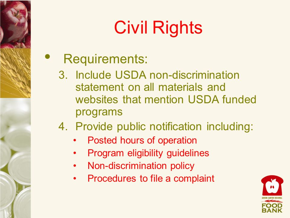 Civil Rights Requirements: