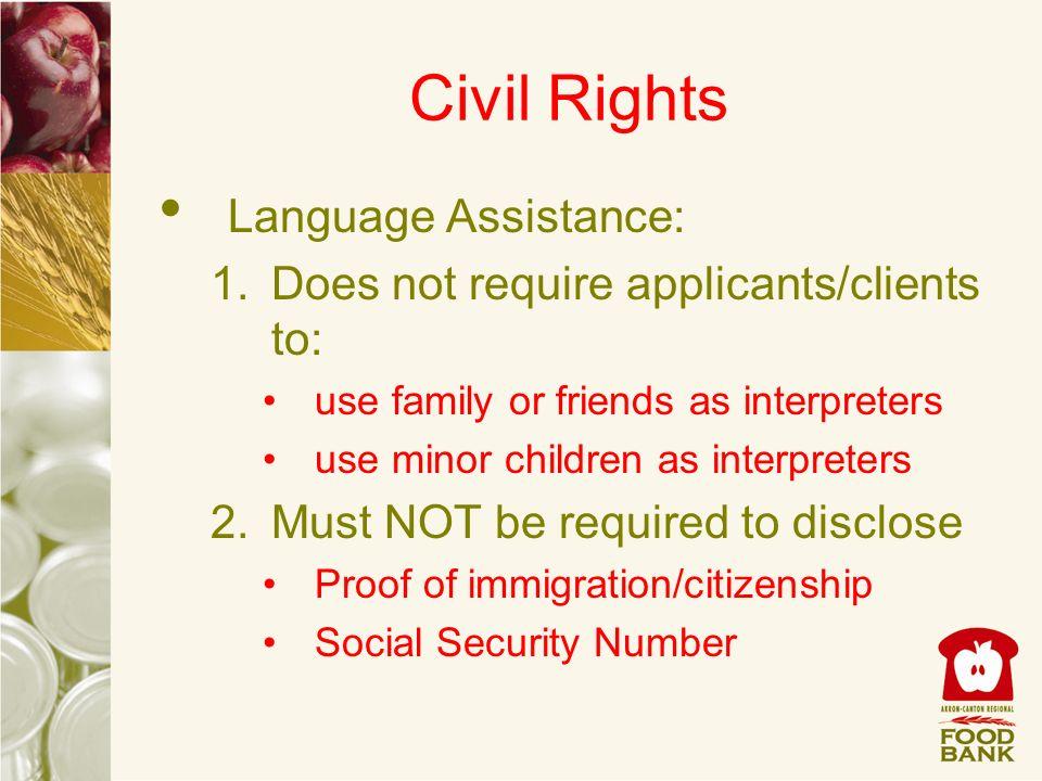 Civil Rights Language Assistance: