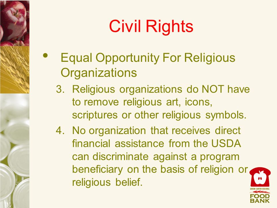 Civil Rights Equal Opportunity For Religious Organizations