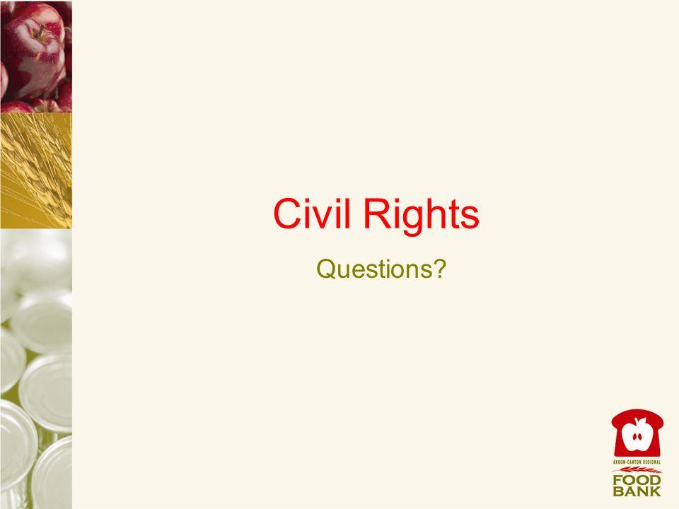Civil Rights Questions