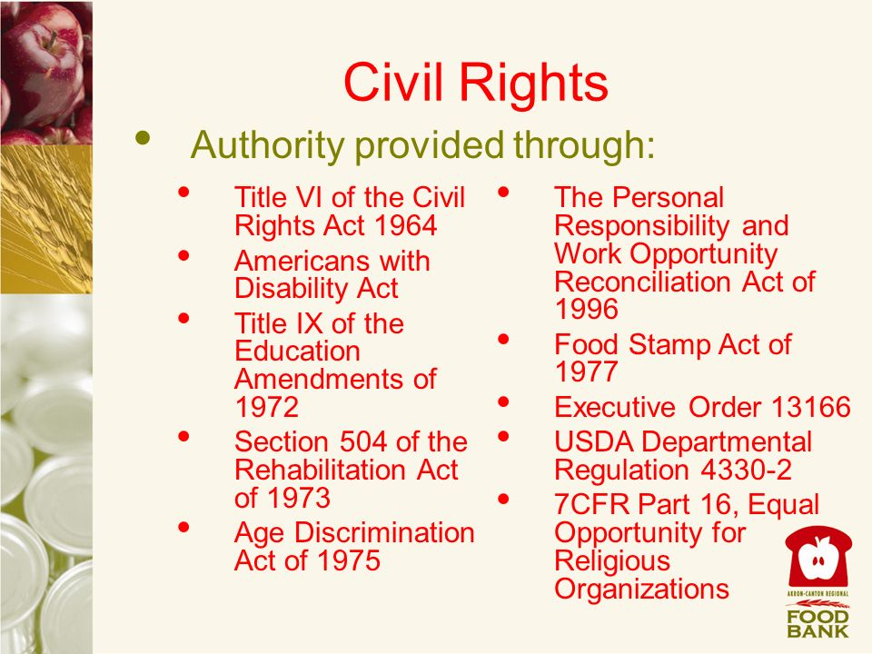 Civil Rights Authority provided through: