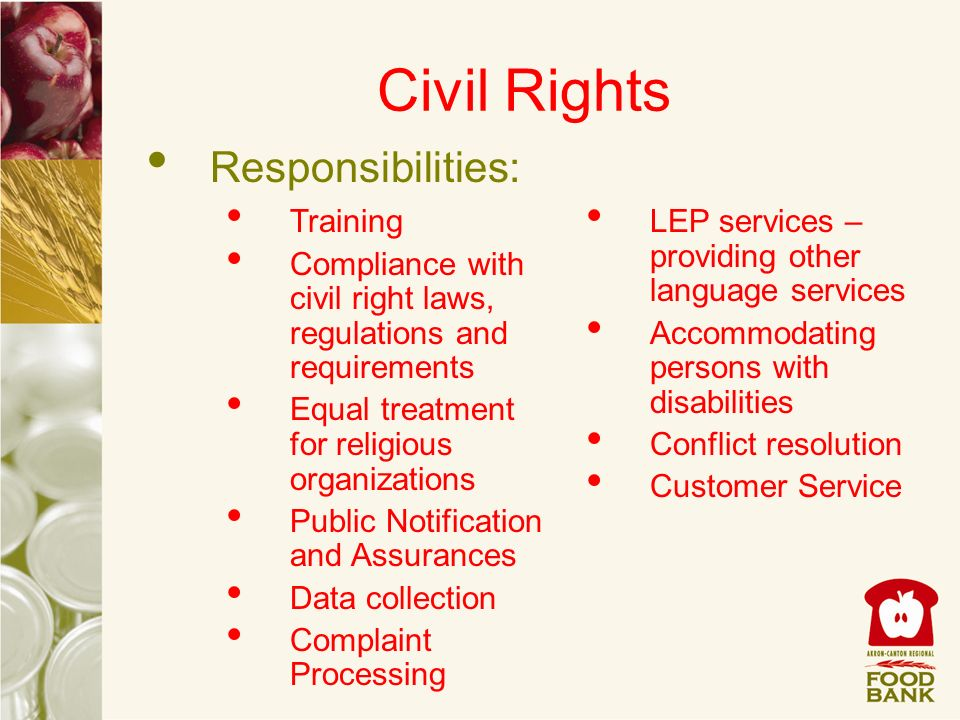 Civil Rights Responsibilities: Training