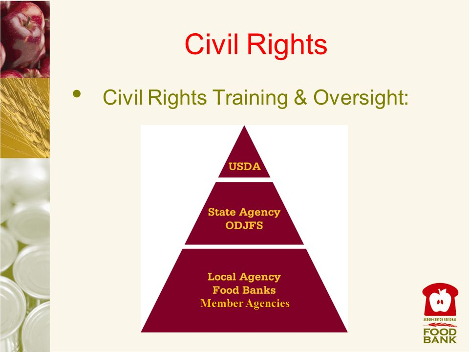 Civil Rights Civil Rights Training & Oversight: Member Agencies
