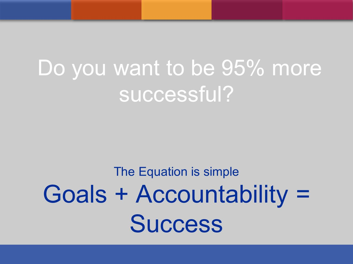 Goals + Accountability = Success