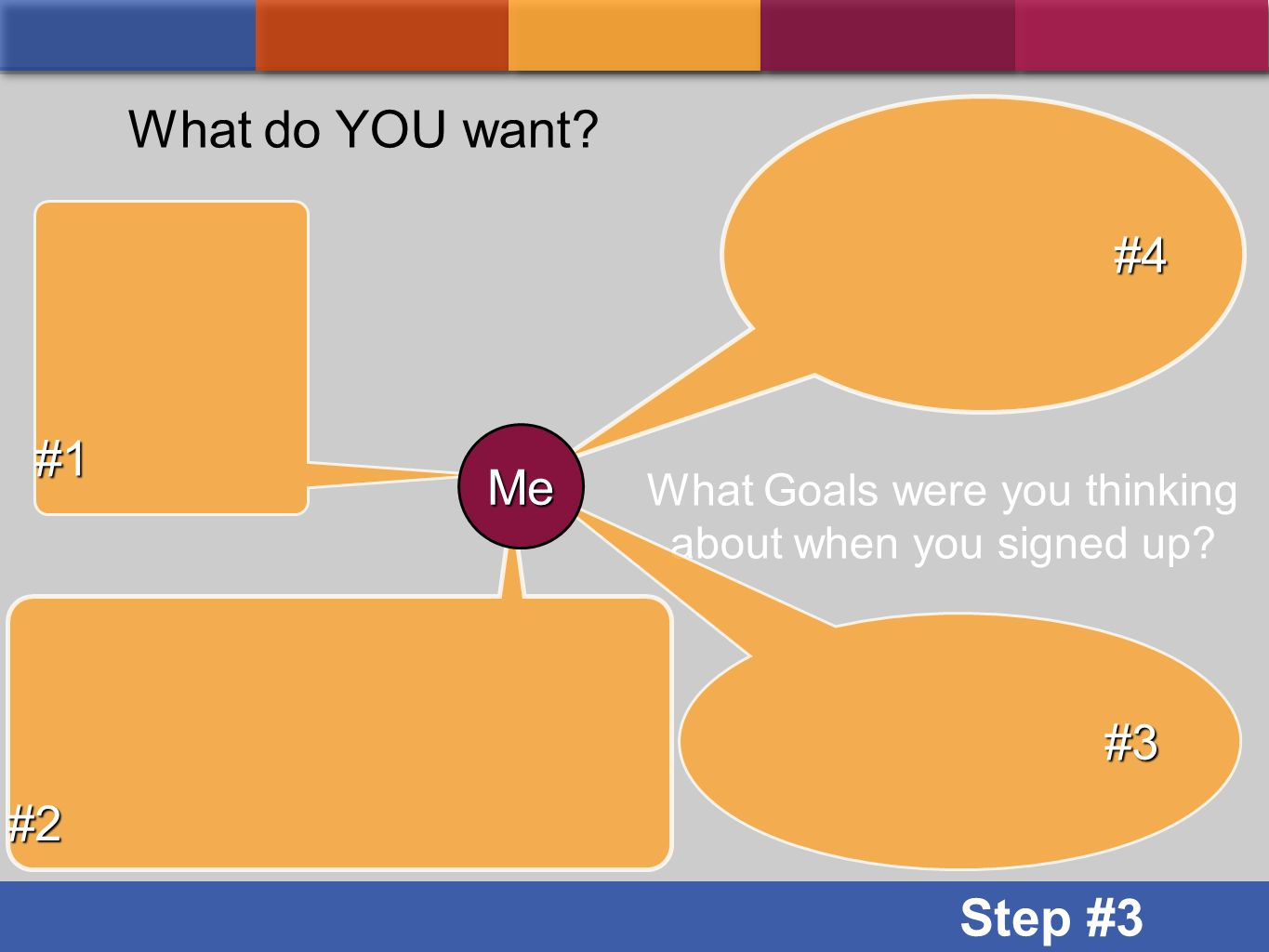 What Goals were you thinking about when you signed up