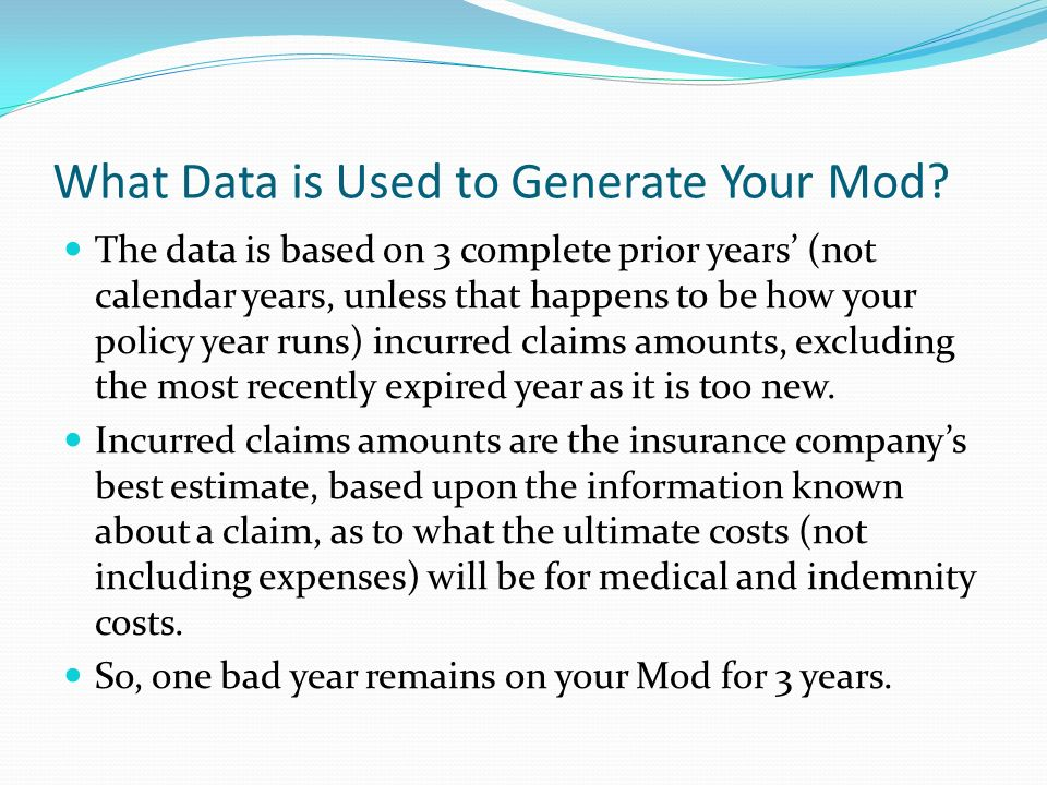What Data is Used to Generate Your Mod