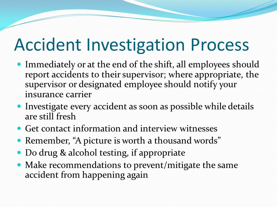 Accident Investigation Process